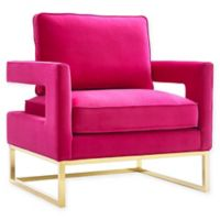 TOV Furniture Avery Velvet Club Chair in Pink