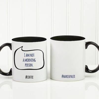 #hashtag Bubble Message 11 oz. Coffee Mug in White/Black