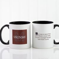 34 Quotes 11 oz. Personalized Coffee Mug in White/Black