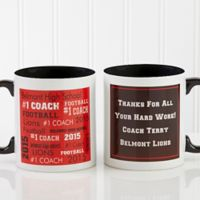 All-Star Coach 11 oz. Coffee Mug in White/Black