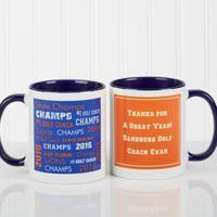All-Star Coach 11 oz. Coffee Mug in White/Blue
