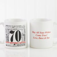 Another Year Has Gone By 11 oz. Personalized Coffee Mug in White