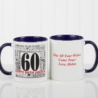 Another Year Has Gone By 11 oz. Personalized Coffee Mug in White/Blue