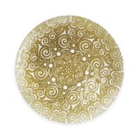 Charge It by Jay! Bombay Glass Charger Plate in Gold