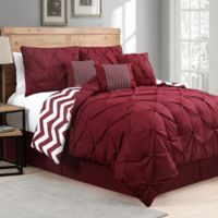 Avondale Manor Venice 7-Piece Reversible King Comforter Set in Red