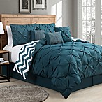 Avondale Manor Venice7-Piece Reversible Queen Comforter Set in Teal