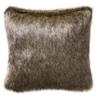 Highline Bedding Co. Valencia Faux Fur Square Throw Pillow in Onyx