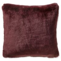 Highline Bedding Co. Gabriella Faux Fur Square Throw Pillow in Cabernet