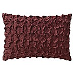 Highline Bedding Co. Gabriella Pleated Oblong Throw Pillow in Cabernet