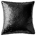Highline Bedding Co. Gabriella Sequin Square Throw Pillow in Black