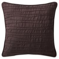 Highline Bedding Co. Gabriella Pintucked Square Throw Pillow in Cabernet