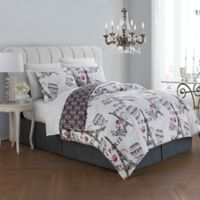 Avondale Manor Darcy 8-Piece Reversible Queen Comforter Set in Blush/Grey