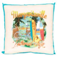 Margaritaville® Island Life Window Pane Square Outdoor Throw Pillow in Blue