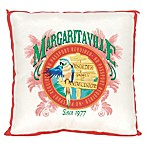 Margaritaville® Window Pane Square Outdoor Throw Pillow in Red