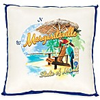 Margaritaville® State of Mind Square Indoor/Outdoor Beach Pillow in Blue