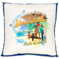 "Margaritaville® ""State of Mind"" Square Indoor/Outdoor Throw Pillow in Blue"