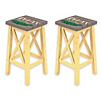 Margaritaville® Relax Outdoor Bar Stools in Grey/Yellow (Set of 2)