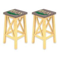 "Margaritaville® ""Relax"" Bar Stools in Grey/Yellow (Set of 2)"