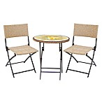 Margaritaville®  Hemmingway 3-Piece Outdoor Wicker Bistro Set in Yellow/Brown