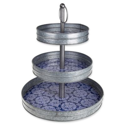 Galvanized Steel 3 Tier Stand