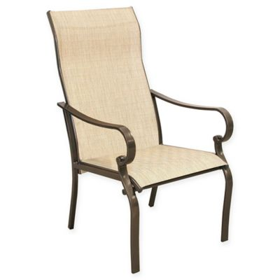 Never Rust Aluminum Sling Dining Chairs In Bronze (Set Of 2)