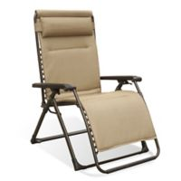 Never Rust Aluminum Outdoor Oversized Adjustable Relaxer in Tan
