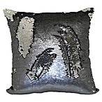 Mermaid Sequin Throw Pillow in Pewter/Silver