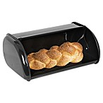 Home Basics® Stainless Steel Bread Box in Black