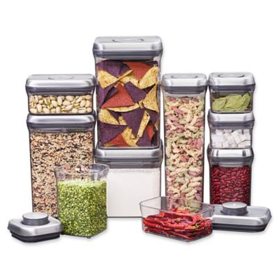 Product Image For OXO Good Grips® 10 Piece Food Storage Pop Container In  Stainless