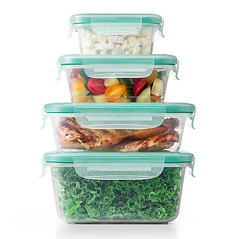 Oxo good grips smart seal 20 piece plastic container set - Plastic bathroom storage containers ...