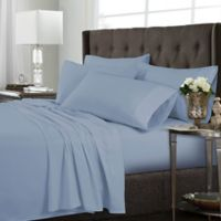 Tribeca Living Solid Twin Sheet Set in Sky Blue