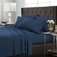 Tribeca Living Solid King Sheet Set in Estate Blue