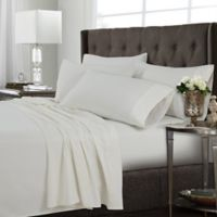 Tribeca Living Solid Queen Sheet Set in Ivory