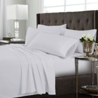 Tribeca Living Solid Twin XL Sheet Set in White