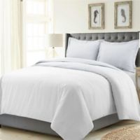 Tribeca Living Madrid Solid Queen Duvet Cover Set in White