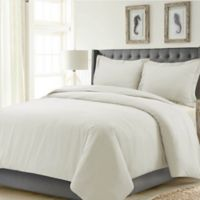 Tribeca Living Madrid Solid Queen Duvet Cover Set in Ivory