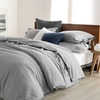 DKNYpure Stripe Full/Queen Duvet Cover in Grey