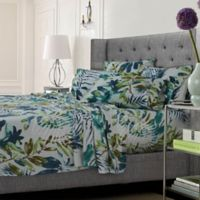 Tribeca Living Tropical Rainforest King Sheet Set in Blue/Green
