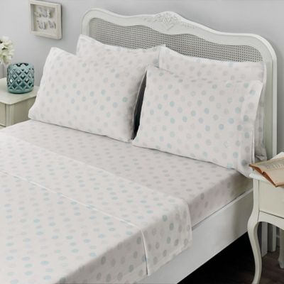 Attractive Brielle Circlets King Sheet Set In Light Blue