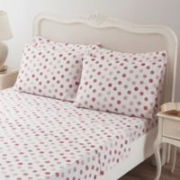 Brielle Circlets Queen Sheet Set in Red