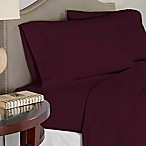 Pointehaven 200 GSM Flannel King Sheet Set in Plum