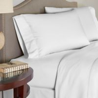 Pointehaven 200 GSM Flannel Twin Sheet Set in White