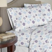 Pointehaven 200 GSM Flannel Twin Sheet Set in Snow
