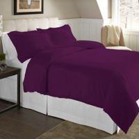 Pointehaven 200 GSM King/California King Duvet Set in Plum