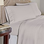 Pointehaven 175 GSM Solid Flannel Queen Sheet Set in Heather Grey