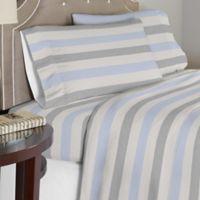 Pointehaven 175 GSM Savannah Flannel Full Sheet Set in Beige