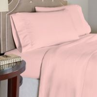 Pointehaven 175 GSM Solid Flannel Queen Sheet Set in Rose Quartz