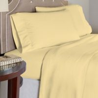 Pointehaven 175 GSM Solid Flannel Full Sheet Set in Yellow