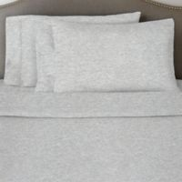 Pointehaven 170 GSM Solid Flannel King Sheet Set in Heather Grey