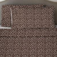 Pointehaven 170 GSM Giraffe Flannel Queen Sheet Set in Chocolate